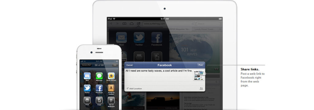 Apple's Siri and Facebook Share Links